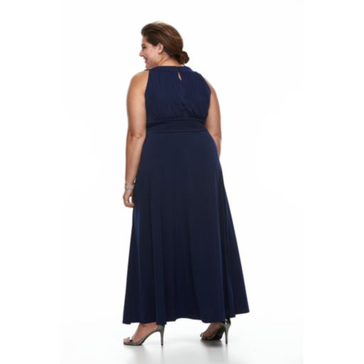 Plus Size Chaya Beaded Evening Gown