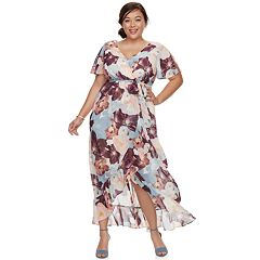 Plus Size Chaya Split Short Sleeve Maxi Dress