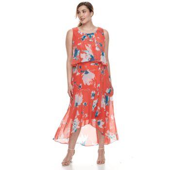 Plus Size Chaya High-Low Maxi Dress