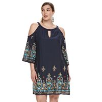 Plus Size Chaya Cold-Shoulder Dress
