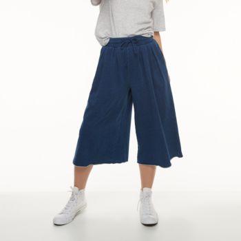 k/lab Wide-Leg Culottes Sweatpants