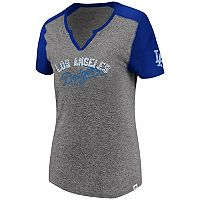 Women's Majestic Los Angeles Dodgers Invulnerable Tee
