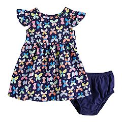Baby Girl Jumping Beans® Printed Flutter Sleeve Dress
