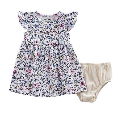 cda48170a2e0 Baby Girl Jumping Beans® Printed Flutter Sleeve Dress