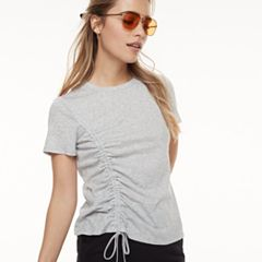 k/lab Asymmetrical Gathered Tee