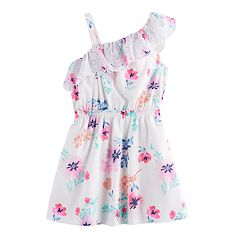 Girls 4-12 SONOMA Goods for Life™ Asymmetrical Floral Eyelet Dress
