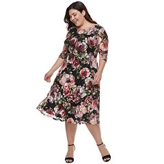 Plus Size Chaya Floral Printed Dress