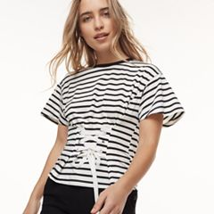 k/lab Striped Corset Tee