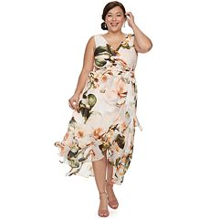 bd6a8323cd0d2 Plus Size Chaya Floral Wrap Dress. clearance