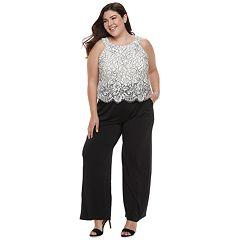 Plus Size Chaya Lace Jumpsuit