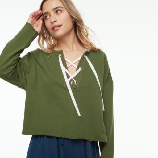 k/lab Lace-Up Sweatshirt