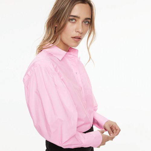 k/lab Bishop Sleeve Button-Down Shirt