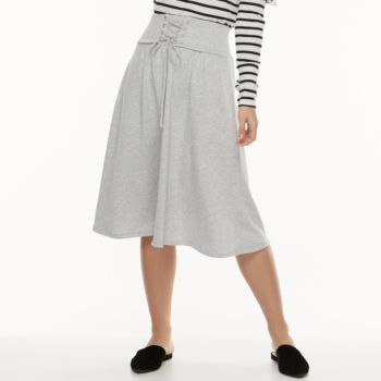 k/lab Lace-Up Midi Skirt