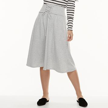 k/lab Lace-Up Midi Skirt