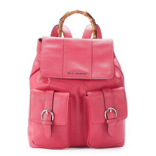 Dana Buchman Faux Bamboo Handle Backpack