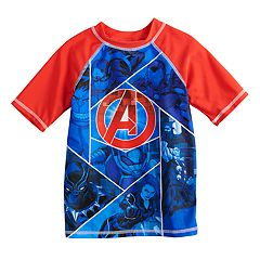 Boys 4-7 Marvel Avengers Rash Guard Top