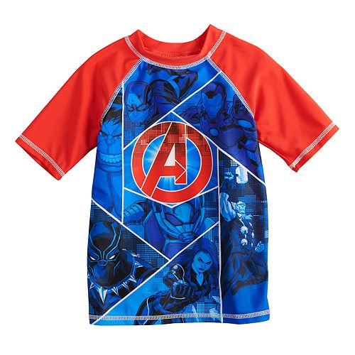 Boys 4-7 Marvel Avengers Rash Guard Top