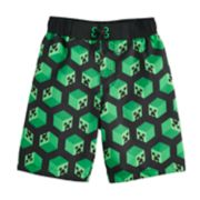 Boys 4-7 Minecraft Creeper Swim Trunks