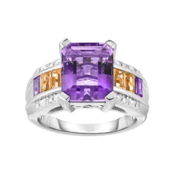 Sterling Silver Ametrine & Gemstone Ring