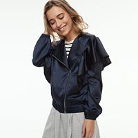 k/lab Asymmetrical Satin Jacket