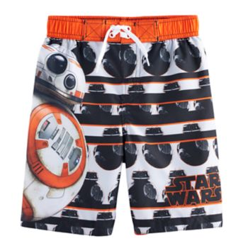 Boys 4-7 Star Wars BB-8 Swim Trunks