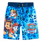 Boys 4-7 Paw Patrol Rubble, Marshall & Chase Swim Trunks