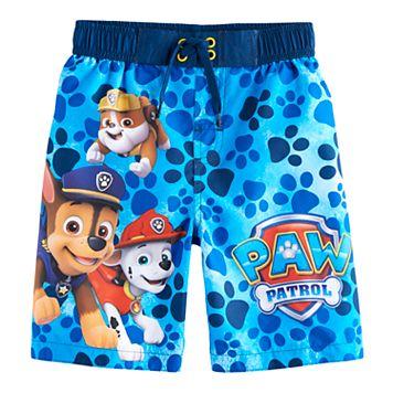 Boys 4-7 Paw Patrol Rubble, Marshall & Chase Swim Trunks