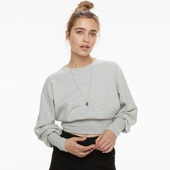 k/lab Ruched Cropped Sweatshirt
