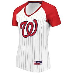 Women's Majestic Washington Nationals Jersey Tee