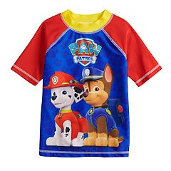Boys 4-7 Paw Patrol Chase & Marshall Rash Guard Swim Top