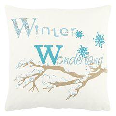 Rizzy Home 'Winter Wonderland' Throw Pillow