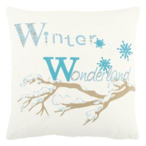 "Rizzy Home ""Winter Wonderland"" Throw Pillow"