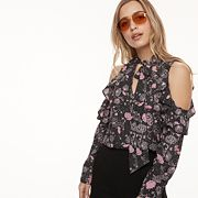 k/lab Floral Cold-Shoulder Blouse