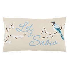 Rizzy Home 'Let It Snow' Oblong Throw Pillow