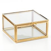 LC Lauren Conrad Glass Jewelry Box