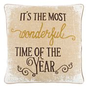 Rizzy Home 'It's the Most Wonderful Time of the Year' Throw Pillow