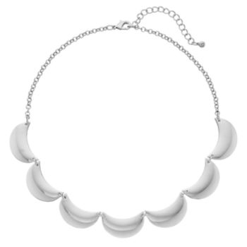 Scalloped Statement Necklace