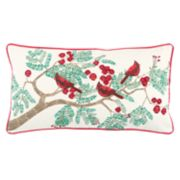 Rizzy Home Cardinals on Branch Oblong Throw Pillow