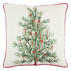 Rizzy Home Christmas Tree Throw Pillow
