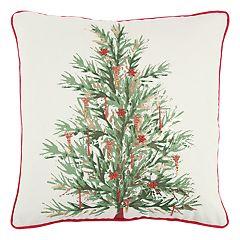 Rizzy Home Christmas Tree Throw Pillow
