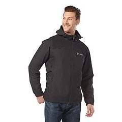 Men's Free Country Waterproof Dobby Hooded Rain Jacket