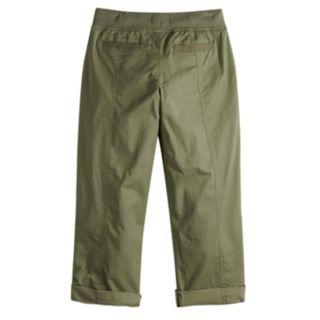 Girls 7-16 & Plus Size SO® Utility Rolled Cuff Capri Pants