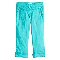 Girls 7-16 & Plus Size SO® Utility Rolled Cuff Capri Pants