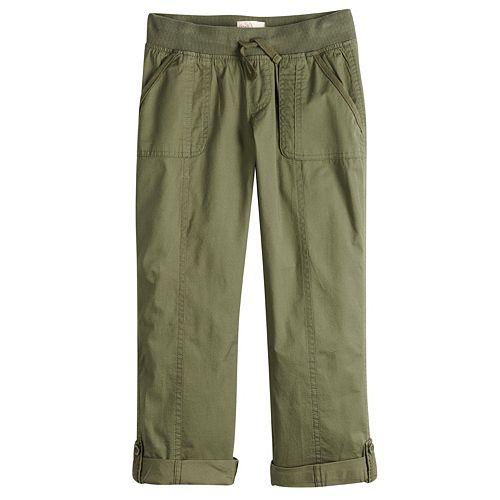 fc8e43a4ffd83 Girls 7-16 & Plus Size SO® Utility Rolled Cuff Capri Pants