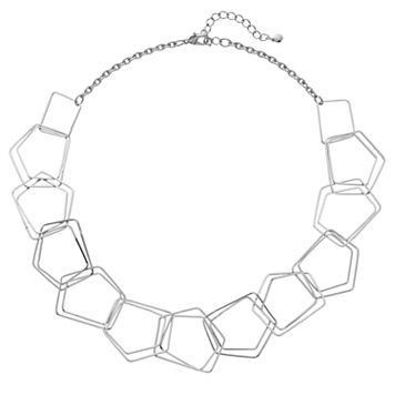 Open Geometric Link Necklace
