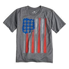 Boys 8-20 Tek Gear® American Flag Baseball Tee