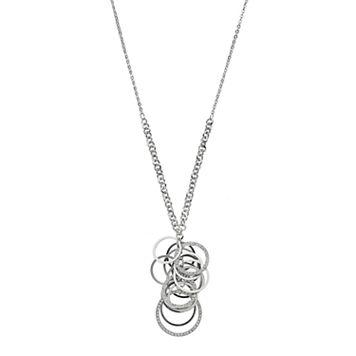 Circle Cluster Y Necklace