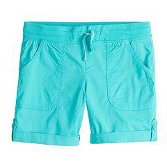 Girls 7-16 & Plus Size SO® Rolled Cuff Cargo Bermuda Shorts