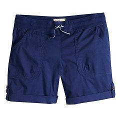 Girls 7-16 & Plus Size SO® Rolled Cuff Cargo Bermuda Shorts