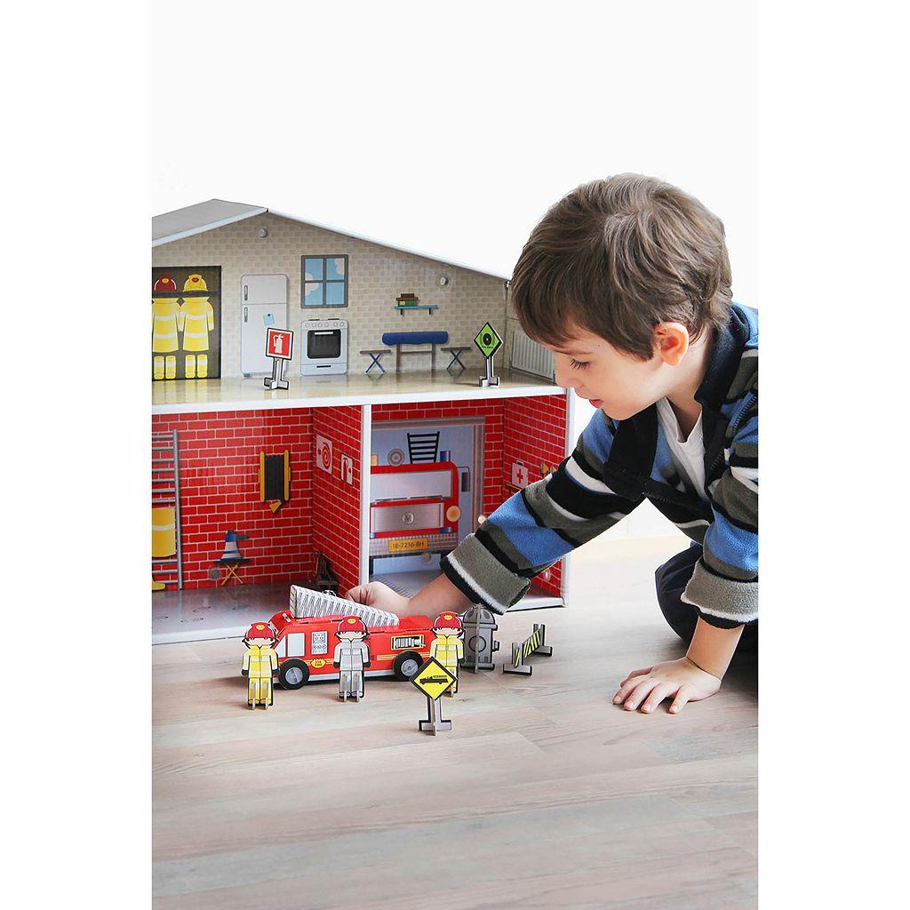 Krooom Dylan Fire Station Playset